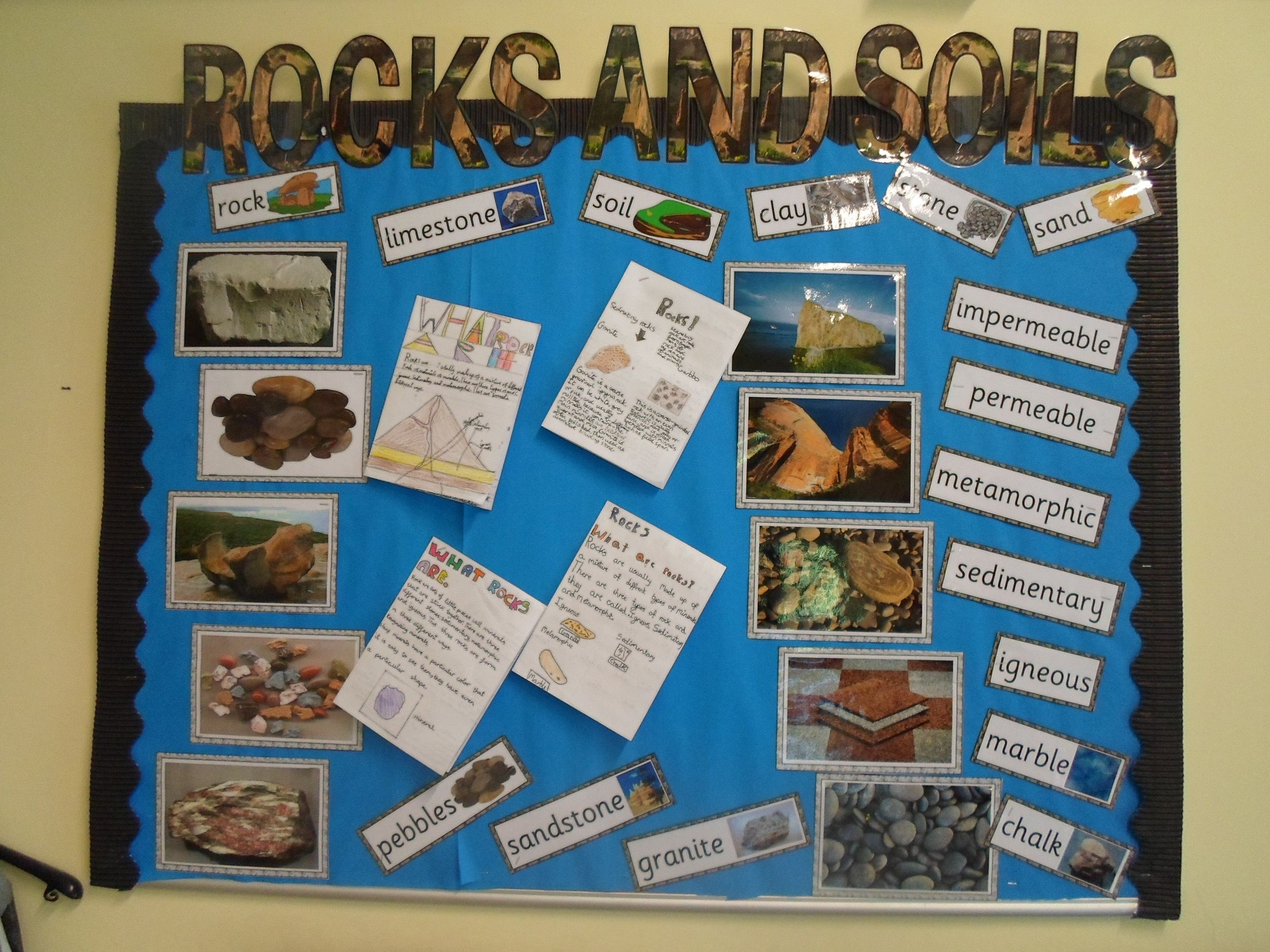 Rocks and soils display rocks pinterest classroom for Soil facts ks2
