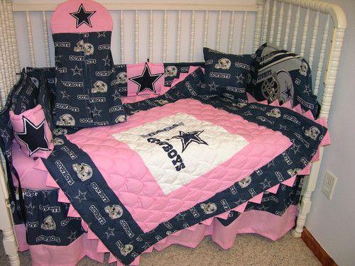 Crib Bedding Set Made W Pink Dallas
