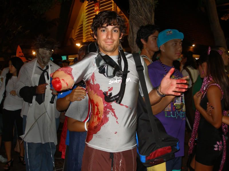 shark attack costume - Ups Man Halloween Costume
