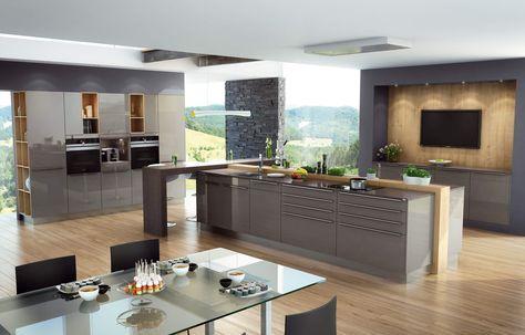Küche Hochglanz, grau, Fronten, Lack, Küchenfronten, glänzend - k che hochglanz grau