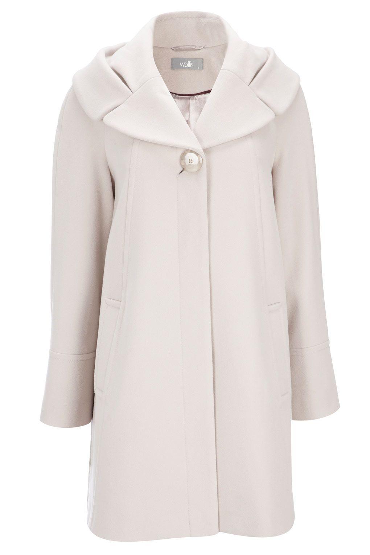 Wallis Stone Faux Wool Swing Coat Clothes Coat Fashion [ 1530 x 1020 Pixel ]