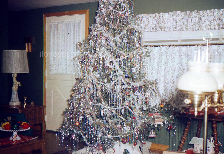 Vintage Photo Up Close View of Decorated Christmas Tree 1970/'s Original Found Photo Vernacular Photograph