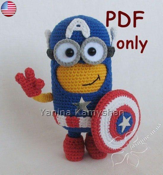Hero Monster, amigurumi crochet PDF pattern | Tejido, Ganchillo y ...