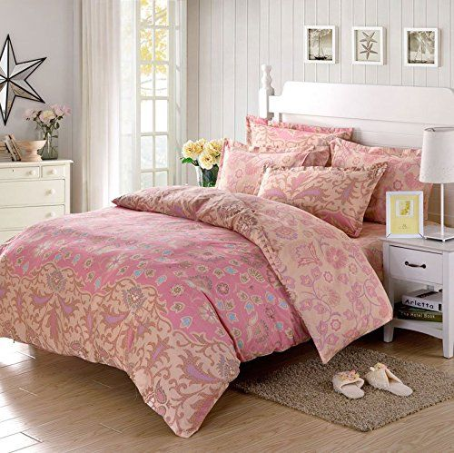 LELVA Pink Floral Pattern Girl Bedding Sets Bedding Duvet Cover Set Bedding for Girls LELVA® http://www.amazon.com/dp/B015H8M19M/ref=cm_sw_r_pi_dp_W7FIwb0P9Q920