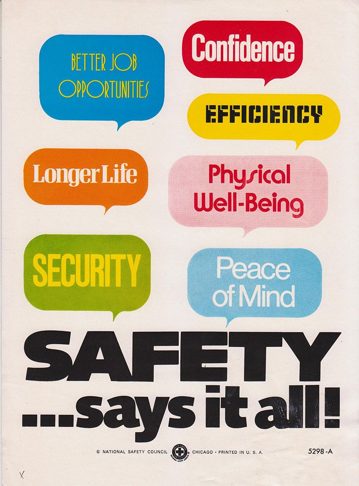 Twenty cool Health and Safety posters from the past