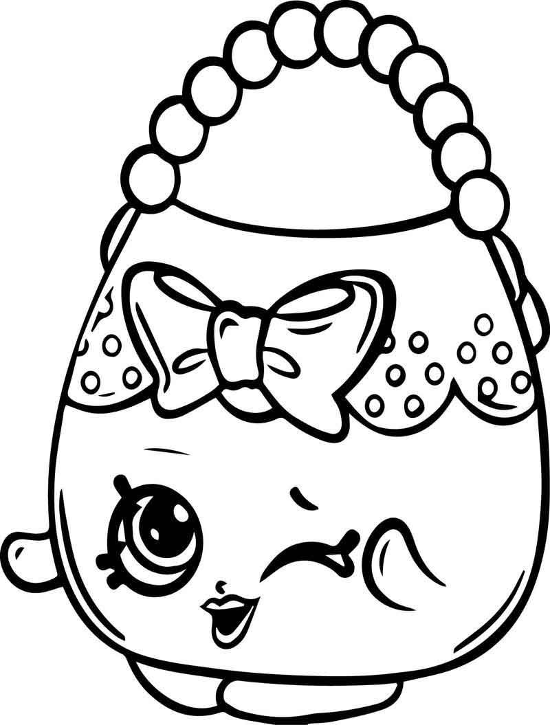 Handbag Harriet Shopkins Coloring Page In 2020 Shopkins Colouring Pages Shopkin Coloring Pages Coloring Pages For Kids