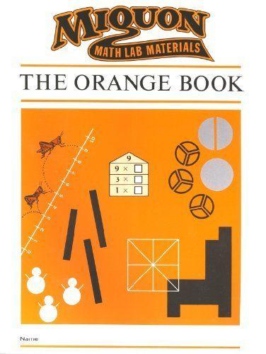 Miquon Math Lab Materials Orange Book Level 1 For First Grade