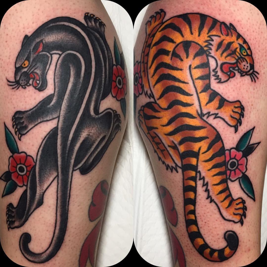 Andrew Mcleod En Instagram Kylie Maree S Panther And Tiger Together Tatuajes Femeninos Tatuajes Tradicionales Tatuajes Interesantes