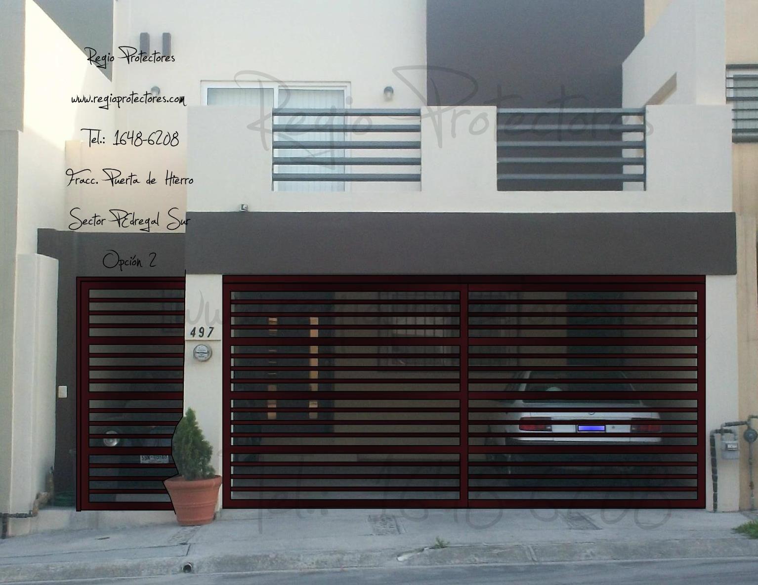 Famous rejas portones frentes para casas todo herreria - Puertas de cocheras ...
