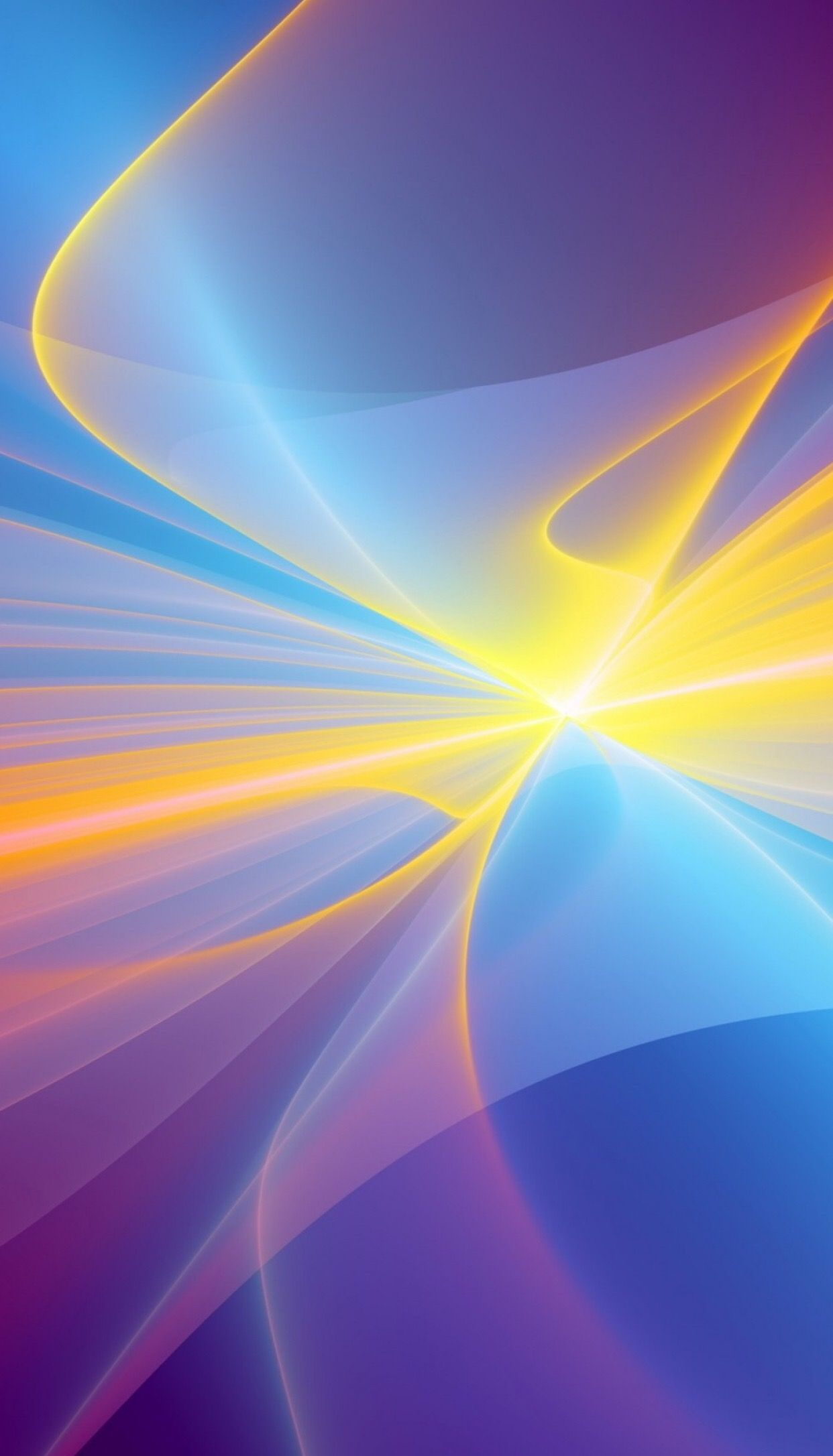 iOS 11, yellow, digital, blue, abstract, apple, wallpaper