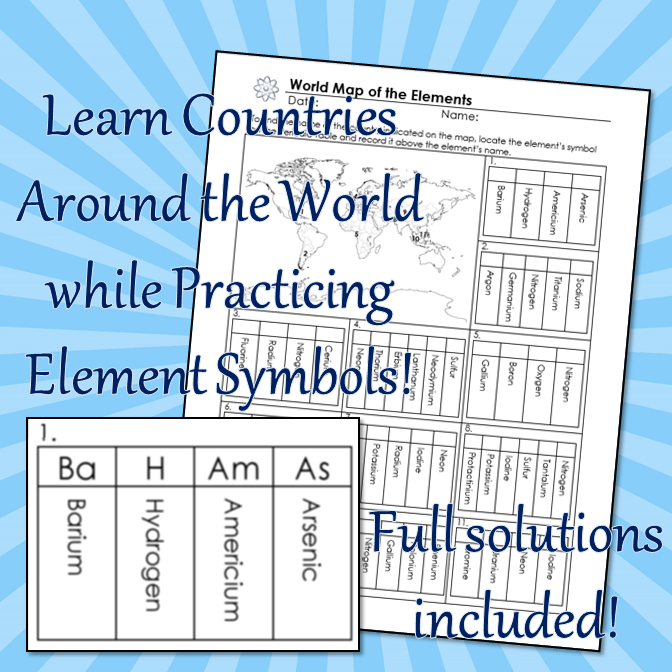 Element names and symbols puzzle review editable pinterest students learn about countries while reviewing the names and symbols urtaz Images