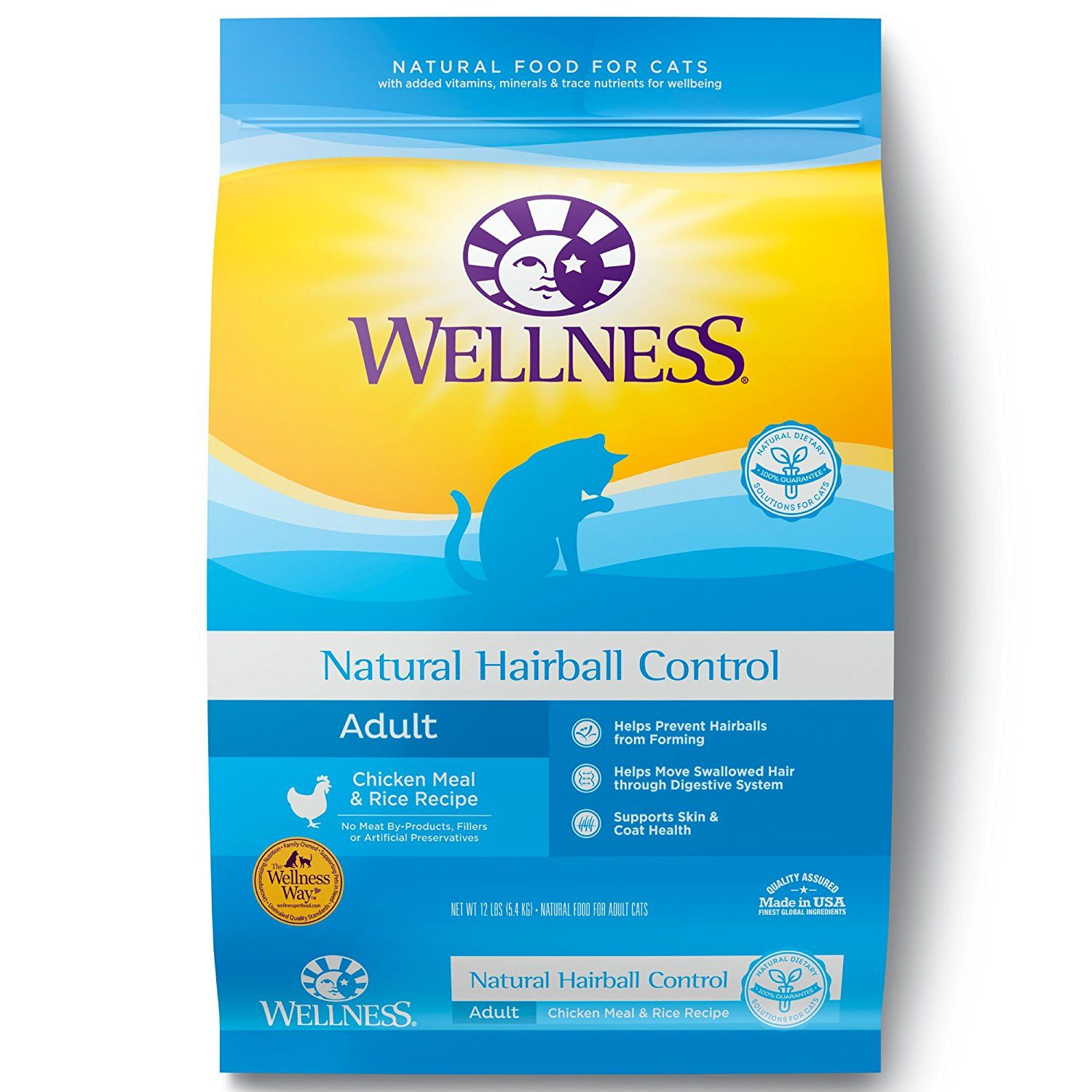 Wellness hairball control natural dry cat food chicken and rice wellness hairball control natural dry cat food chicken and rice 115 pound bag forumfinder Image collections