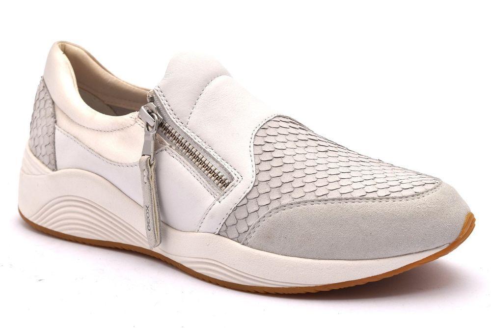 GEOX D620SA 0ZVAF C1002 OMAYA BIANCO Scarpe Sneakers Stringate Estiva Donna Moda