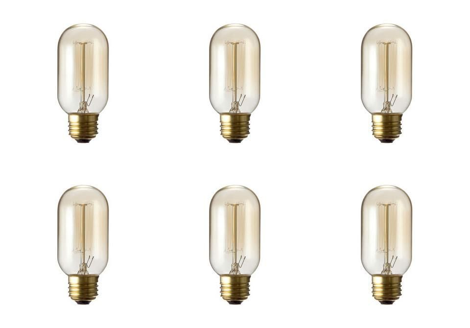 T45 Vintage Lighting Antique Light Bulb Nostalgic Lamp Cage