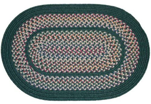 tapestry braided rugs hunter green 7x9 oval braided rug by rhody
