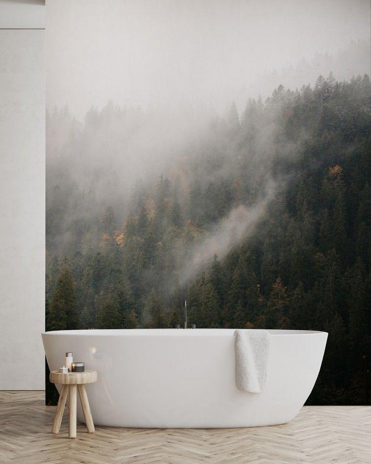 Fototapete Wald Trends 2018 Badezimmer #design #wall #trends - fototapete für badezimmer