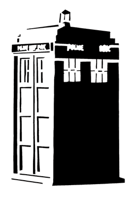 doctor who stencil silhouette outline clipart mania