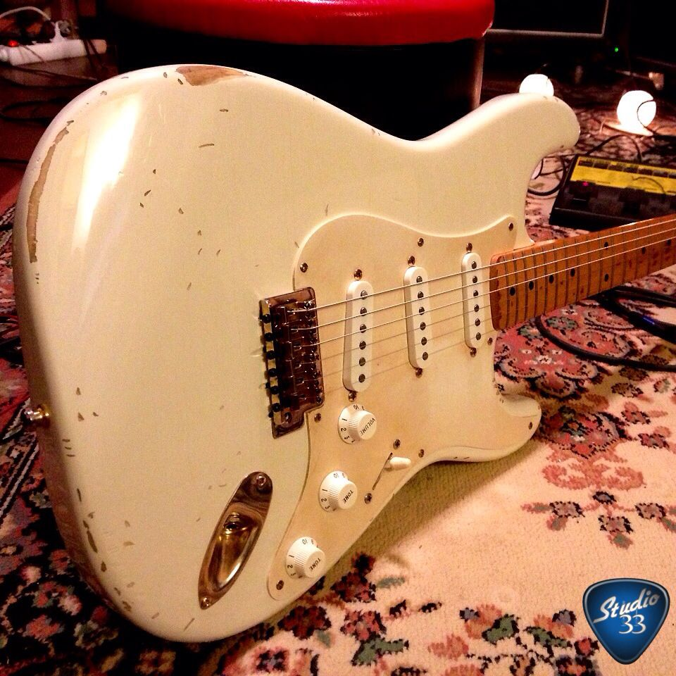 this 1954 stratocaster is serial number 0001  owned by david gilmour of  pink floyd