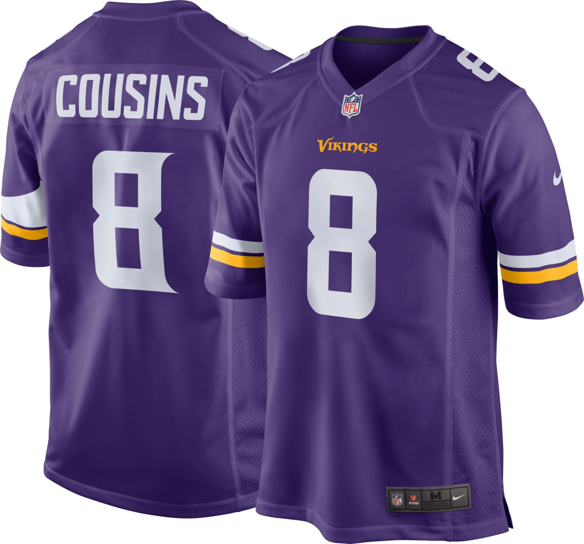 Minnesota Kirk Cousins  8 Nike Men s Home Game Jersey  bdec3b950