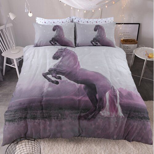 Photo of Bayley Percale Duvet Cover Set 17 Stories Size: Single