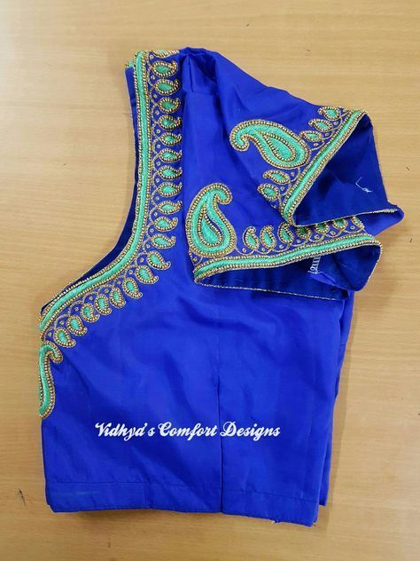 Bridal Blouse Designs done at Vidhya's Comfort Designs, Besant Nagar, Chennai Contact - 9003020689 #blousedesignslatest