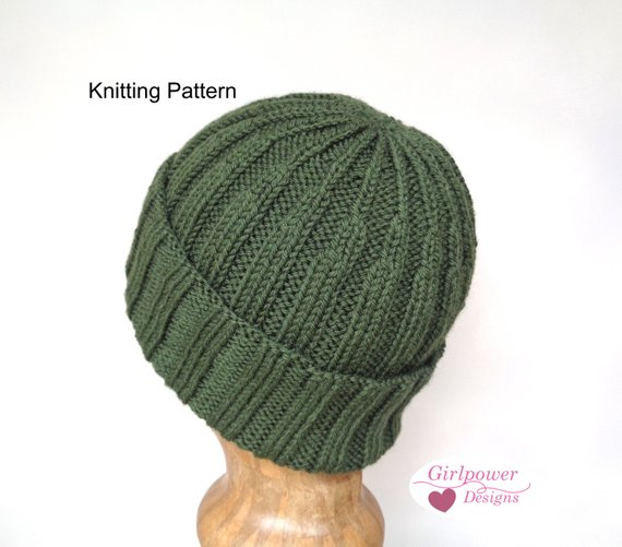 Ribbed Hat with Crown Detail Knitting Pattern efbc0a613a8