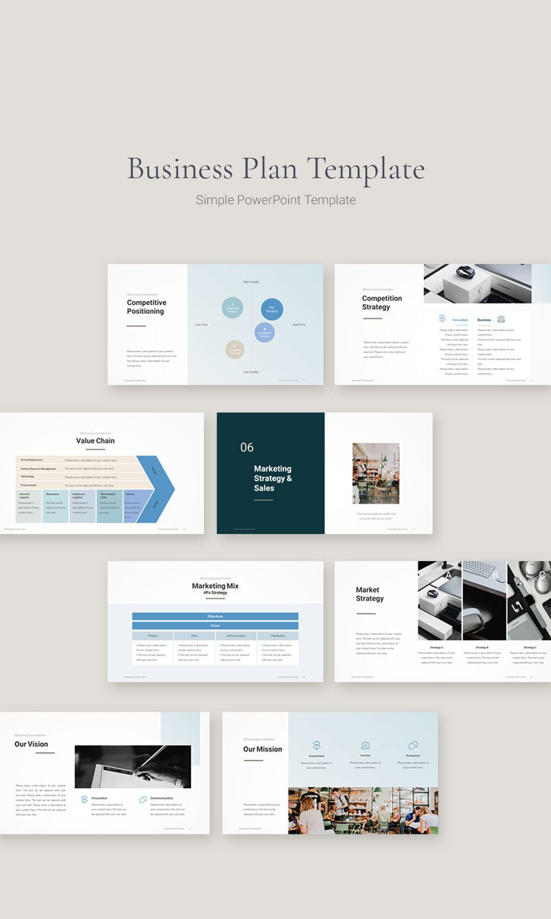 Business Plan PowerPoint Template Business plan