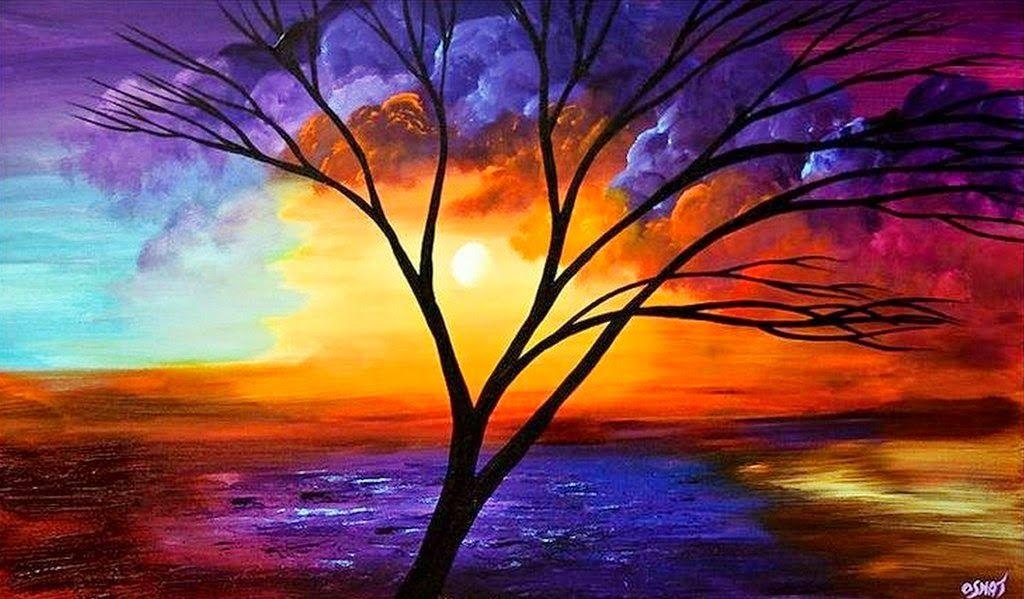 Pinturas impresionistas de paisajes faciles buscar con google ideas para dibujar arte - Como pintar cuadros faciles ...