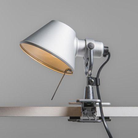 Klemmlampe Artemide Tolomeo Micro Pinza Aluminium Elegant Floor Lamps Contemporary Wall Lights Traditional Table Lamps