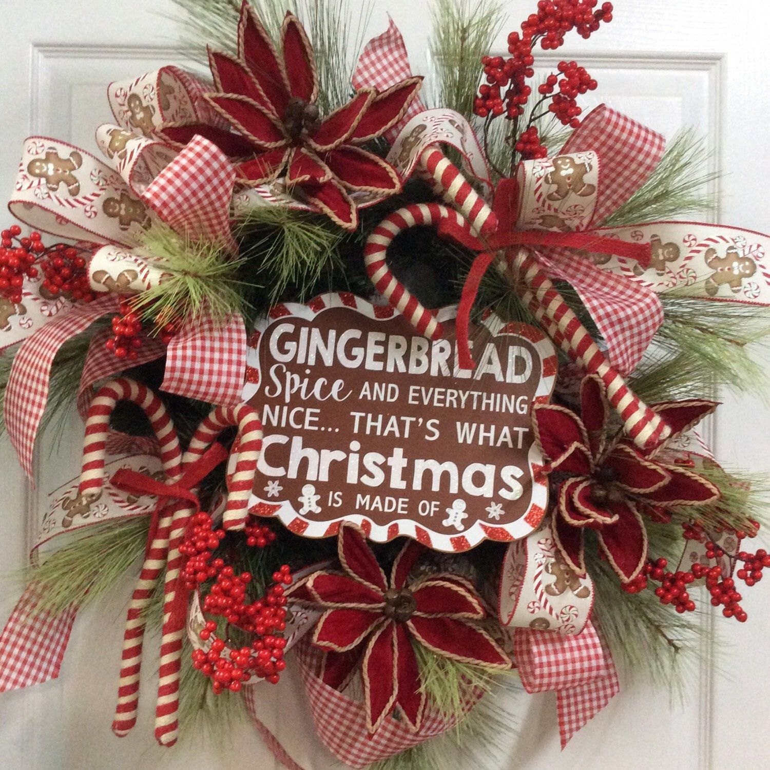 Love this wreath just one of the new Christmas Wreaths listed