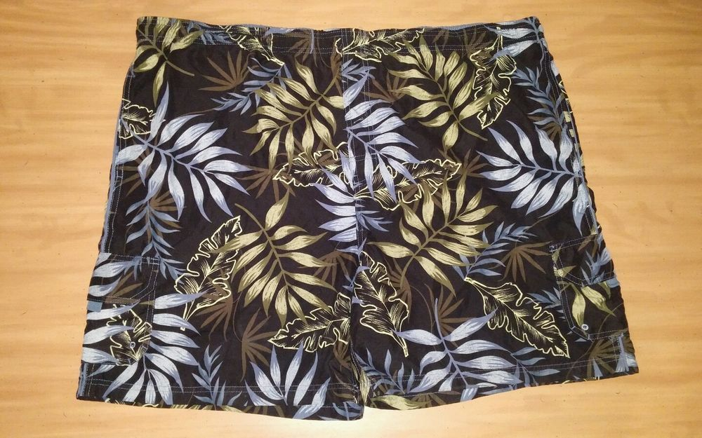 SAND N SUN MENS SWIM TRUNKS SZ XL 40-42 HAWAIIAN FLORAL MESH LINING EUC #SANDNSUN #Trunks