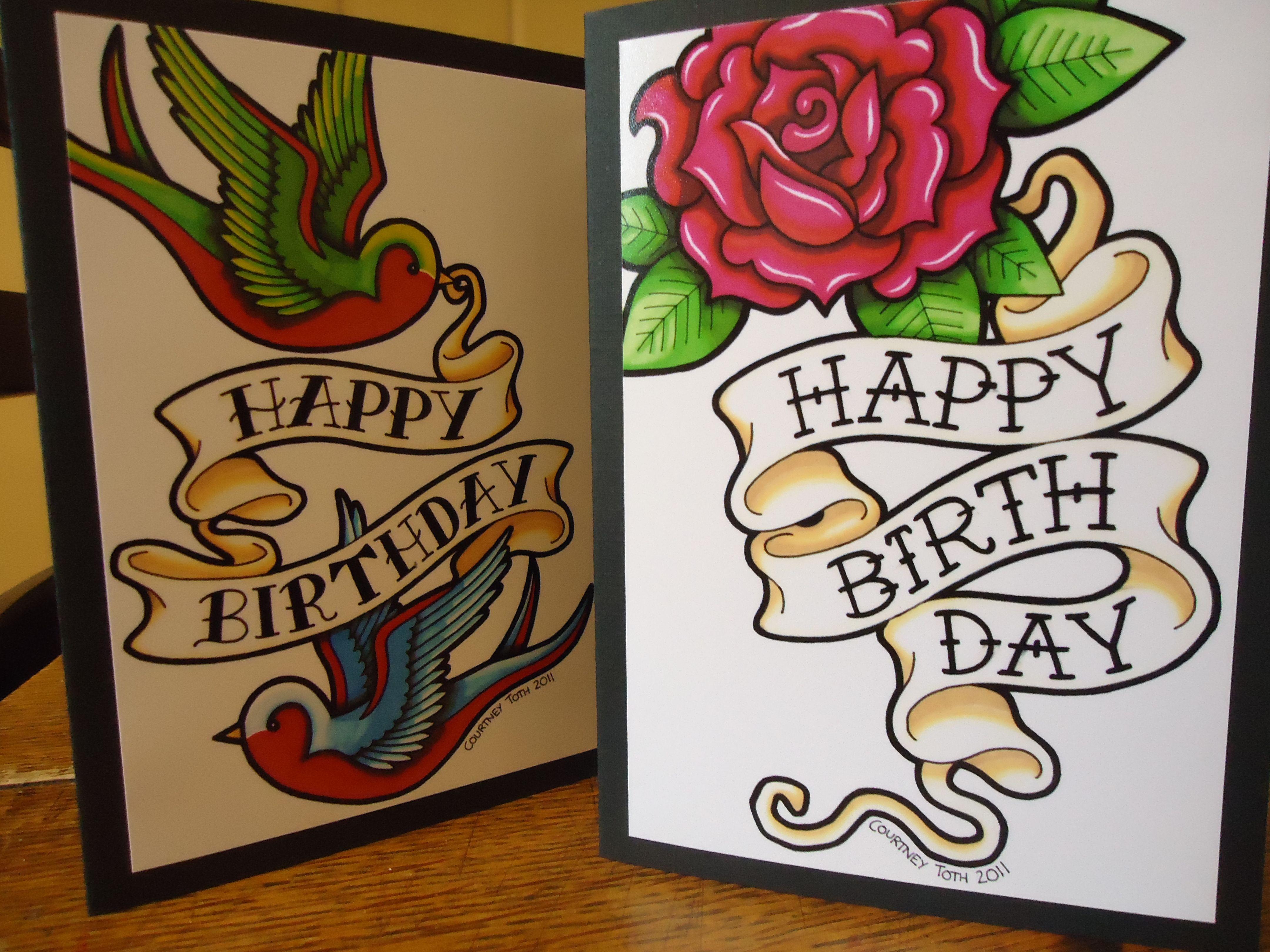 Undefined Happy Birthday Tattoo Birthday Cards Birthday Cards For Men