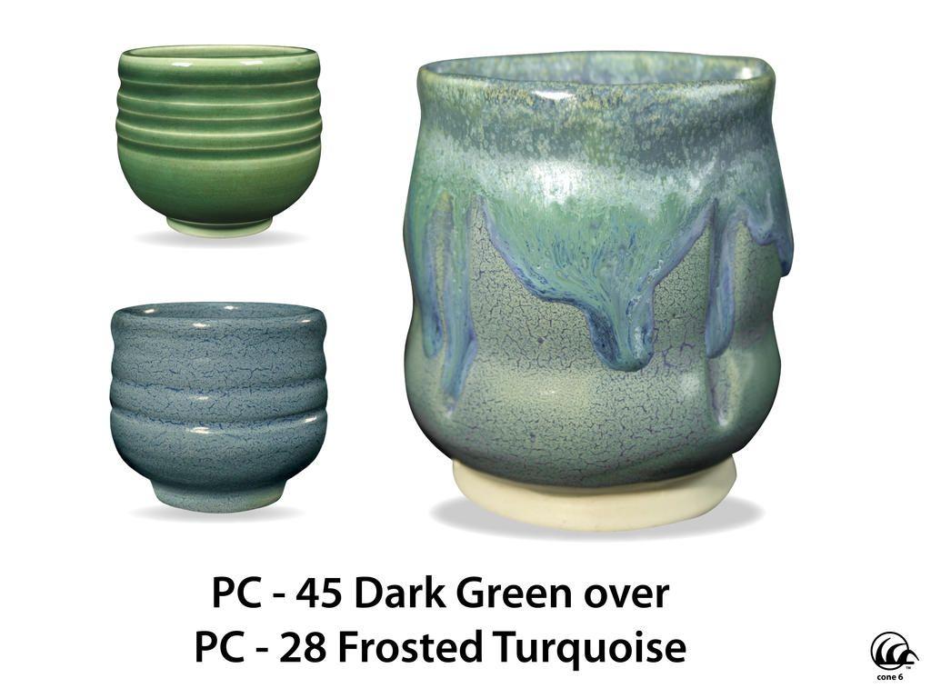Pc 45 Dark Green Glazes For Pottery Ceramic Glaze Recipes Amaco Glazes