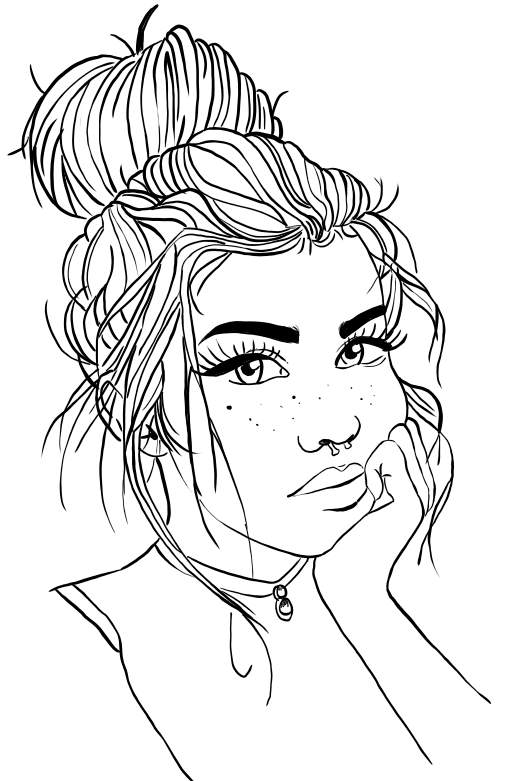 Tumblr Cute Aesthetic Coloring Pages In 2020 Tumblr Coloring Pages Cute Coloring Pages People Coloring Pages