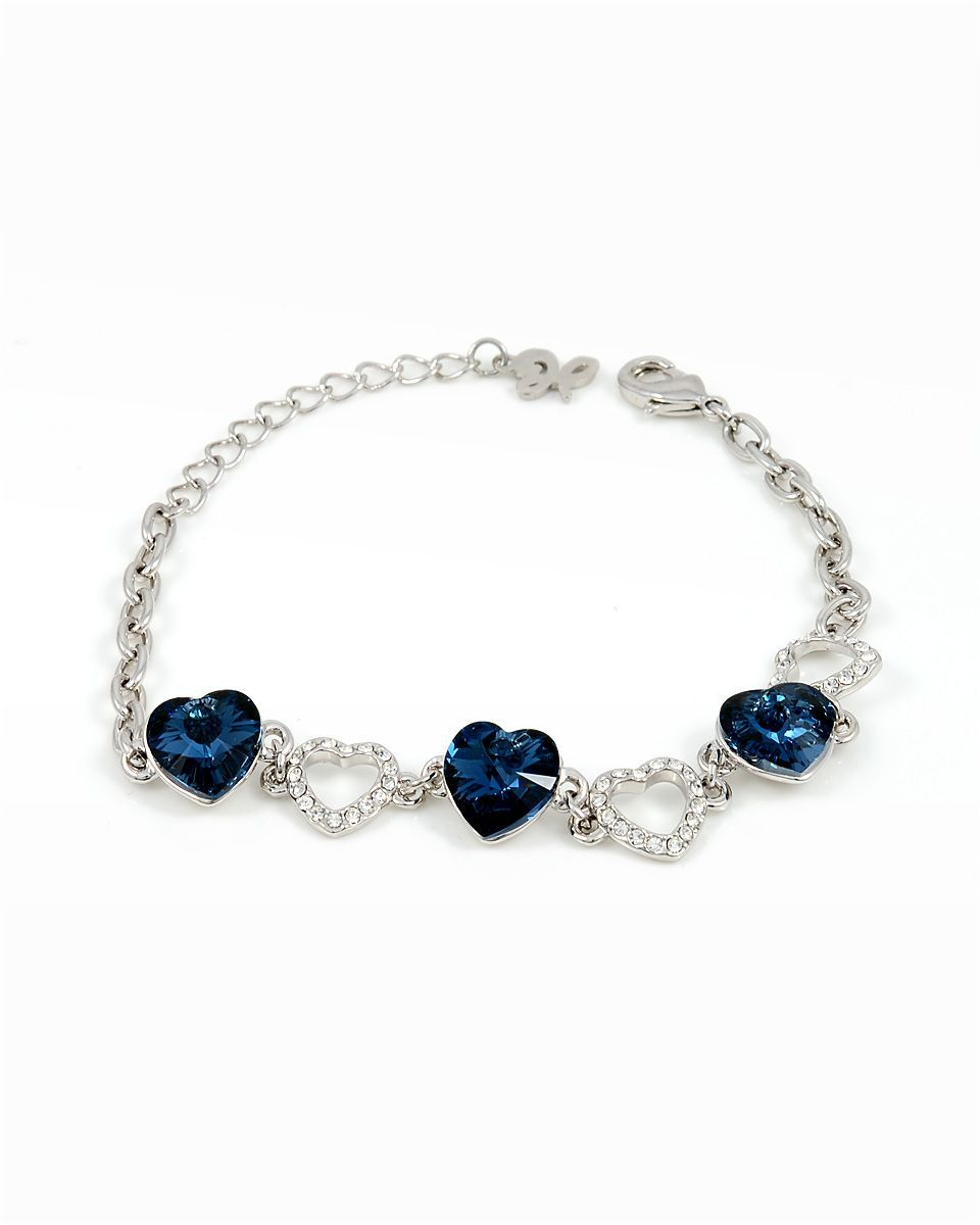 Buy swarovski elements k white gold plated bracelet bracelets