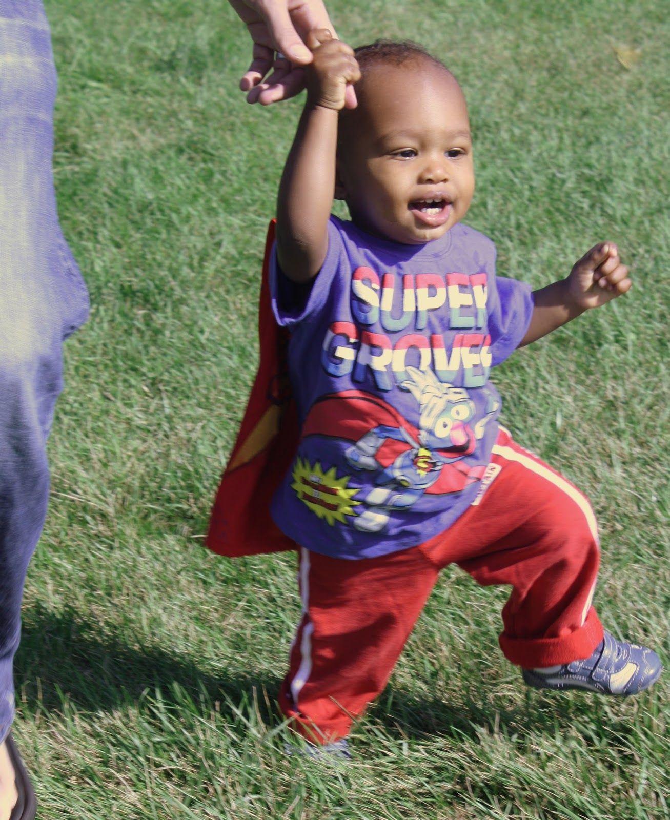 The hard work of raising a super hero!