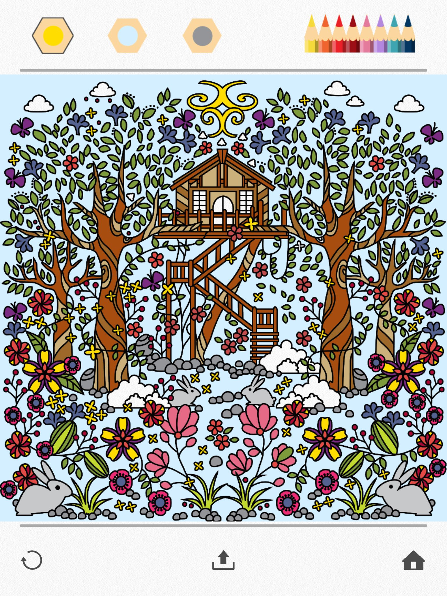 color a beautiful garden using colorfy online coloring book for adults download it for - Coloring Book App For Adults