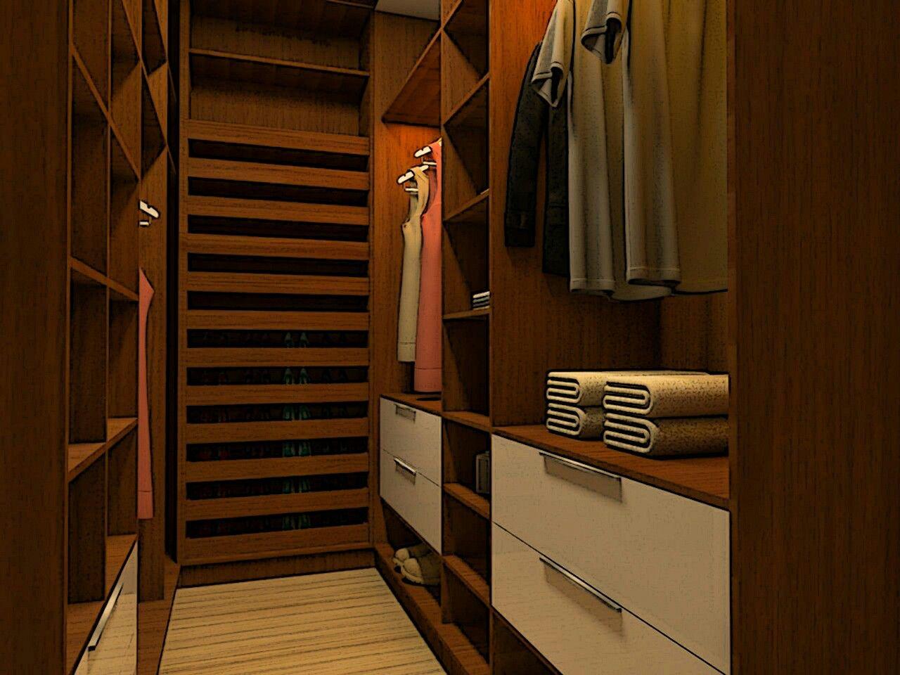 Projeto de Interior Quarto Planejado Closet Sketchup Vray