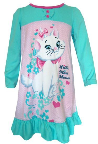 Disney Aristocats Marie Little Miss Meow Nightgown for girls (2T)   Amazon.com  Clothing 38886dad1