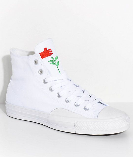 9c12a9f42397d6 Converse x Chocolate CTAS Pro All White Skate Shoes in 2019