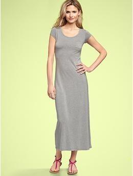 7196a2ed69f With a belt above bump - T-shirt maxi dress