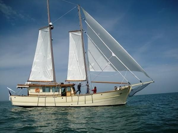 60' Bernard Ferdinand 1966 Gaff Schooner Boat For Sale www