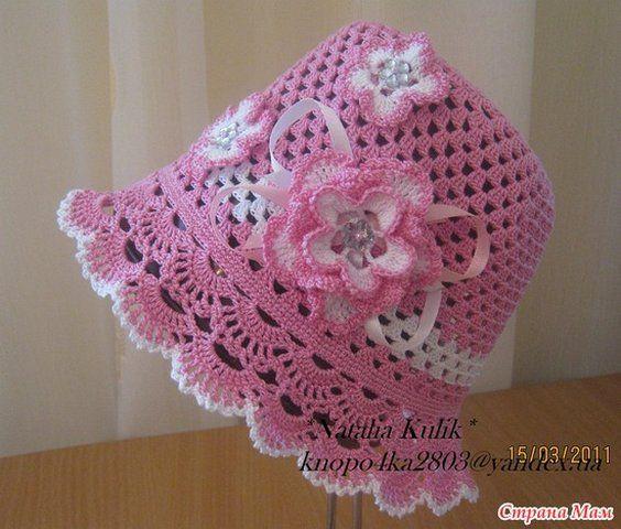 шляпки крючком для девочки схемы шляпки Crochet Kids Hats