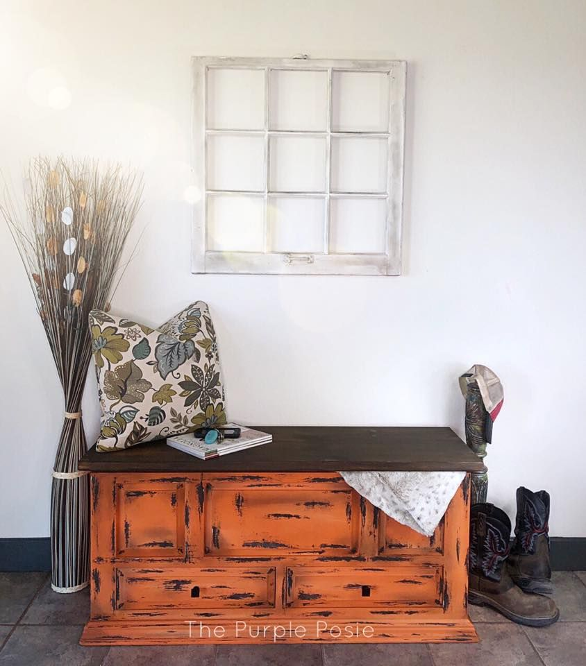 This Rustic One Of A Kind Cedar Lined Hope Chest Can Be Used As A Storage Bench A Statement Piec Hand Painted Furniture Bohemian Furniture Painted Furniture