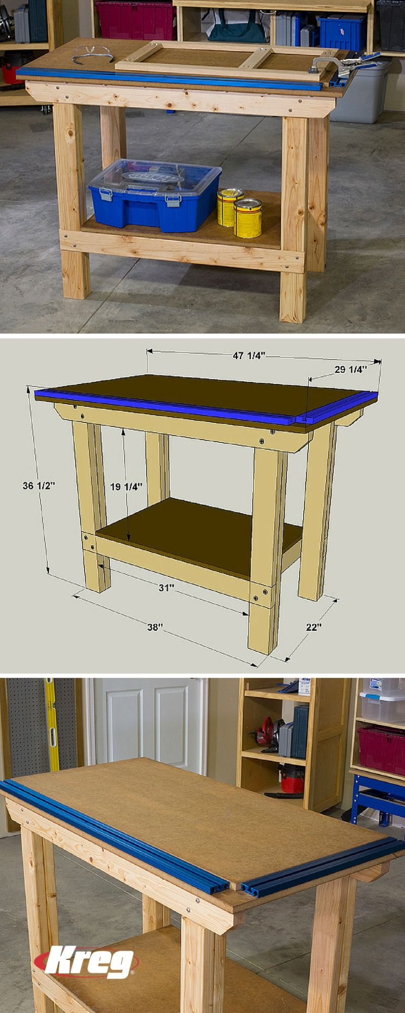 Photo of FREE PROJECT PLAN: How to Build a DIY Workbench