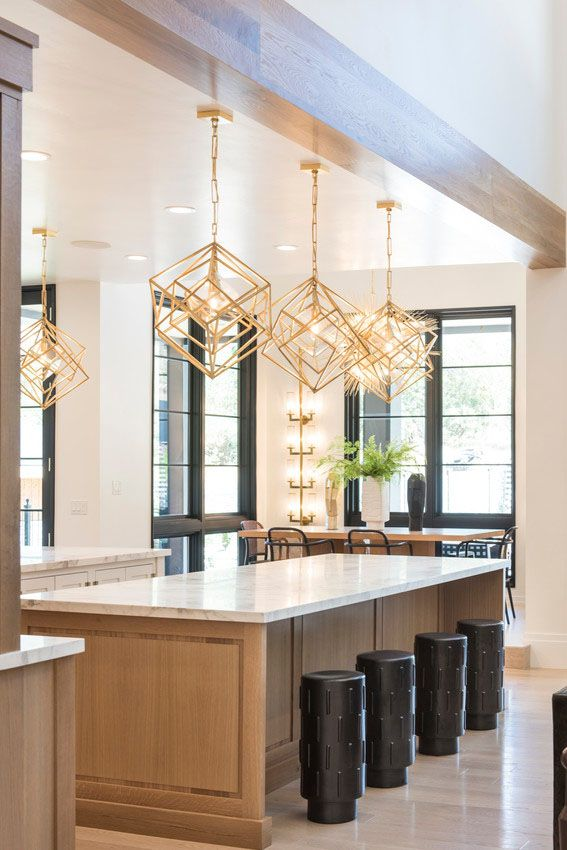 light wood warms this open and angular kitchen meanwhile black painted interior windows and on kitchen interior with window id=29732