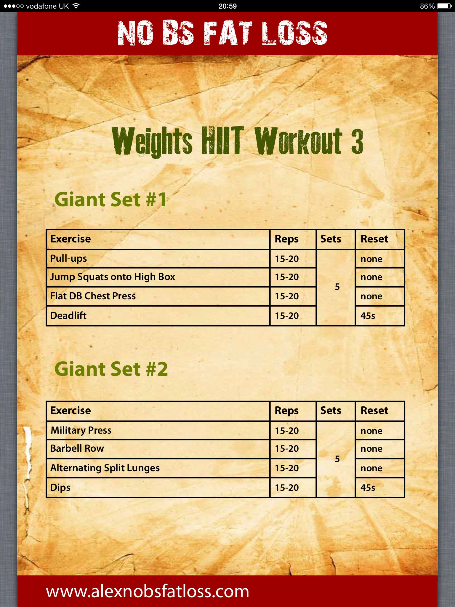 Circuito Hiit : Hiit weight training workouts