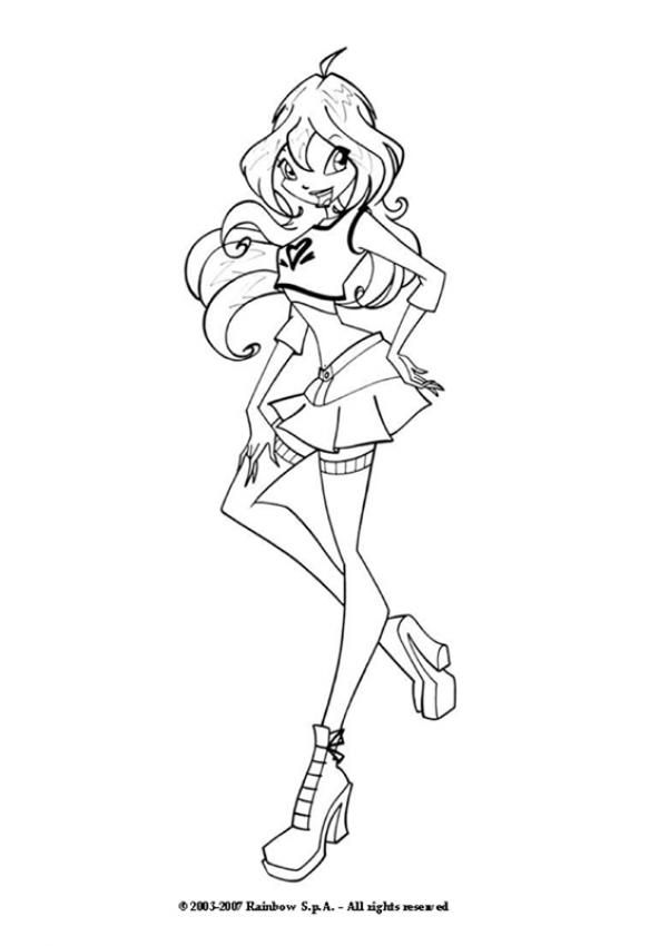 Bloom the winx club fairy coloring page - BLOOM coloring pages ...