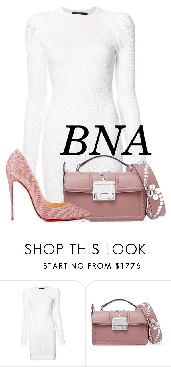 """BNA"" by deborahsauveur ❤ liked on Polyvore featuring Philipp Plein, Lanvin and Christian Louboutin"