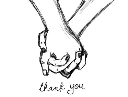 • drawing couple cute thank you holding hands aliensforsale •